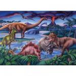 Puzzle  Ravensburger-08613 Le temps des dinosaures