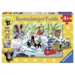 Ravensburger-08863 2 Puzzles - La Petite Taupe