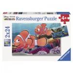 Ravensburger-09044 2 Puzzles - Les Aventures de Némo