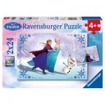 Ravensburger-09115 2 Puzzles - Disney La Reine des Neiges