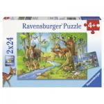 Ravensburger-09117 2 Puzzles - Animaux de la Forêt