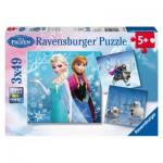 Ravensburger-09264 3 Puzzles - Disney La Reine des Neiges