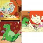 Ravensburger-09267 3 Puzzles - Hexe Lilli  et son ami le dragon