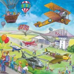 Ravensburger-09273 3 Puzzles - Sur la route et dans les airs