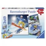 Ravensburger-09287 3 Puzzles - Sport d'action