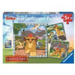 Ravensburger-09348 3 Puzzles - Le Roi Lion