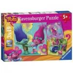 Ravensburger-09364 3 Puzzles - Trolls