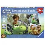 Ravensburger-09406 3 Puzzles - The Good Dinosaure