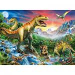 Puzzle  Ravensburger-10665 Le Temps des Dinosaures
