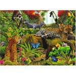 Puzzle  Ravensburger-10781 Pièces XXL - Animaux de la jungle
