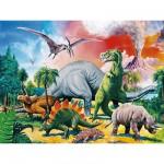 Puzzle  Ravensburger-10957 Au milieu des dinosaures