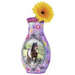 Ravensburger-12052 Puzzle 3D - Girly Girls Edition - Vase Cheval