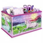 Ravensburger-12071 Puzzle 3D - Girly Girls Edition - Coffret : Licorne