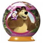 Ravensburger-12178 Puzzle 3D - Masha and the Bear