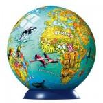 Ravensburger-12202 Puzzle Ball - Carte du monde illustrée (en allemand)