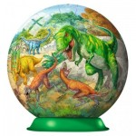 Ravensburger-12267 Puzzle Ball 3D - Dinosaures