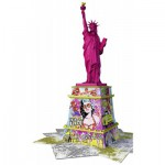 Ravensburger-12597 Puzzle 3D - Statue de la Liberté Pop Art
