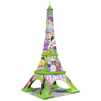 puzzle 3d tour eiffel pop art ravensburger 12598 216 pi ces puzzles monuments planet 39 puzzles. Black Bedroom Furniture Sets. Home Design Ideas