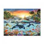 Puzzle  Ravensburger-12804 Pièces XXL - Paradis des Orques