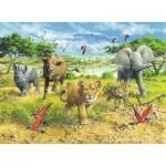 Puzzle  Ravensburger-13219 Bébés Animaux d'Afrique