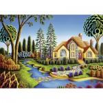 Puzzle  Ravensburger-13567 Pièces XXL - Cottage de Rêve