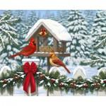 Puzzle  Ravensburger-13582 Pièces XXL - Cardinals at Christmas