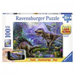Puzzle  Ravensburger-13664 Dinosaures + Application