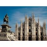 Puzzle  Ravensburger-14015 Italie, Milan - La piazza del Duomo