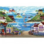 Puzzle  Ravensburger-14125 Joli Bord de mer