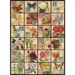 Puzzle  Ravensburger-14126 Fleurs Vintages