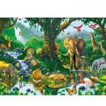 Puzzle  Ravensburger-14171 Harmonie dans la savane