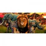 Puzzle  Ravensburger-14177 Safari africain