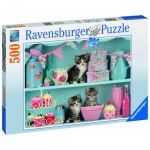 Puzzle  Ravensburger-14684 Chats Cupcake