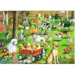 Puzzle  Ravensburger-14870 Pièces XXL - At the Dog Park