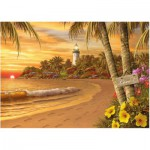 Puzzle  Ravensburger-14887 Tropical Love
