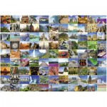 Puzzle  Ravensburger-16319 99 plus beaux endroits du monde
