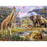 Puzzle  Ravensburger-16333 Couleurs d'Afrique
