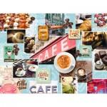 Puzzle  Ravensburger-16346 Café et Dessert