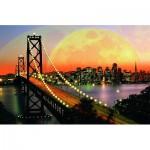 Puzzle  Ravensburger-17039 USA, San Francisco de nuit