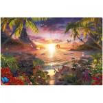 Puzzle  Ravensburger-17824 Paradis au Soleil Couchant