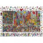 Puzzle  Ravensburger-19069 James Rizzi - Times Square : Tout le monde devrait y aller