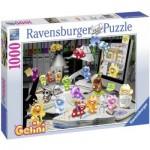 Puzzle  Ravensburger-19150 Gelini : La Nuit, dans le Bureau...