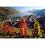 Puzzle  Ravensburger-19236 Vignoble sur le Rhin