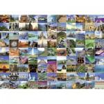 Puzzle  Ravensburger-19371 Les 99 plus beaux endroits de la Terre