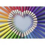 Puzzle  Ravensburger-19390 Coeur de Crayons