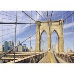 Puzzle  Ravensburger-19424 Sur le pont de Brooklyn