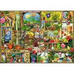 Puzzle  Ravensburger-19482 Colin Thompson: Etagère de Jardin