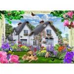 Puzzle  Ravensburger-19496 Delphinium Cottage