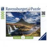 Puzzle  Ravensburger-19539 Nature Edition N°4 : Cascade de Kirkjufell, Islande