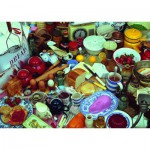 Puzzle  Ravensburger-19583 Cooking up a Feast